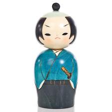 Samurai Japanese Warrior Kokeshi Doll