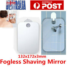 Anti-Fog Fog Free Shower Mirror Fogless Shaving Shave Mirror Bathroom 17X13cm AU