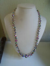 """Retro Vintage Glass Bead 20"""" Necklace Lovely Fastener"""