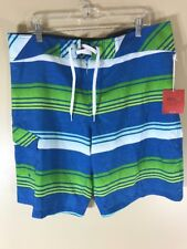 Mens Mossimo Supply Green Blue Swimming Suit Shorts 38