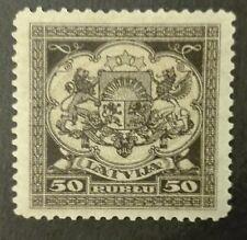 LATVIA-LATVIJA-ŁOTWA STAMPS MNH  - Coat of Arms 50R, 1922, **