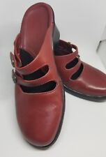 Clarks Womens red wine Mule/Clog Shoes Size 6 M