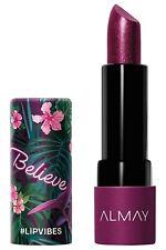 Almay Lip Vibes Cream Lipstick, [280] Believe, 0.14 oz.