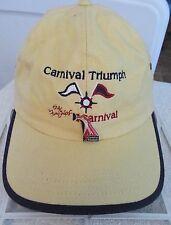 "2001 Carnival Triumph ""Fun Ships"" w/ Cruise Line Hat Pin Yellow Strap Cap Hat"