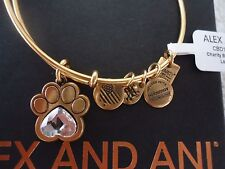 Alex and Ani  PRINTS OF LOVE II Rafaelian Gold Bangle New W/ Tag Card & Box