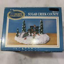 New listing 1997 DICKENS COLLECTABLES SUGAR CREEK COUNTY ICE SKATING BIRD FEEDING CHRISTMAS