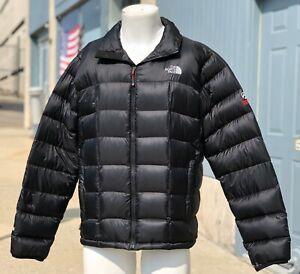 Mens NORTH FACE SUMMIT SERIES 800 Down Fill Full Zip Black Puffer Coat Size L-XL