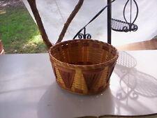 Rustic bambo basket/Hand woven basket/Bamboo basket/Fall basket/Fall deco