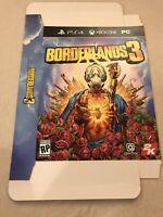 """BORDERLANDS 3 GameStop Exclusive Promo Display Box 11x15"""" PS4 XBOX PC Steam RARE"""