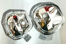Chrome Steel Ford F-250 F-350 Super Duty Differential Cover Kit 1999-18 4WD