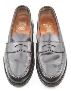 ALDEN x BROOKS BROTHERS 9D UNLINED #8 SHELL CORDOVAN LOAFERS SHOES 06603