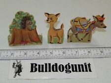1964 Yogi Play Fun Jellystone Park Lot 3 Animal Donkey Deer Pieces Only Toy Whit