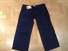 NWT Juicy Couture New & Gen. Ladies Small Blue Crop Leg Linen Trousers UK 8/10