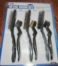 Harbor Freight Tools Brand New   6 pc Detail Brush Set~Nylon,Brass & Steel