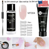 MTSSII Quick Extension Poly UV Gel Polish Nail Tips Brush Tool Set Manicure #2