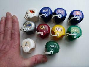 American football NFL mini toy helmets NY Giants Jets Indians Cowboys gumball