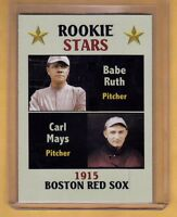 Rookie Stars Babe Ruth & Carl Mays '15 Boston Red Sox, Fan Club serial # /300