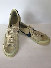 Vintage 1980's Nike Men's Canvas All Court Tennis Shoes For Display Size 10