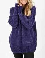 Oversized Long sleeve round neck chenille sweater boyfriend loose fit cozy