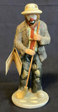 Emmett Kelly Jr Flambro 1984 Hobo Clown Figurine Sweeping With Broom