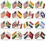 Fashion Flag Badge Flag Pin Flag Lapel Pins Emblem Medal Tabard Brooches Jewelry