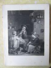 Vintage Impresión, judíos Arpa, Wilkie Gallery, 1845