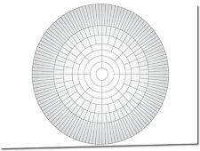 A2 Circle Family Tree Chart (Family History / Genealogy Chart)