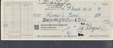Topps Chewing Gum Processed Check To Ken Boyer Signed Sy Berger *0903