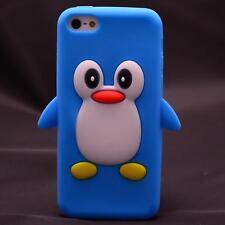 Iphone 5C TPU Silikon Handyhülle Schutzhülle Cover Tasche Hülle Pinguin Türkis