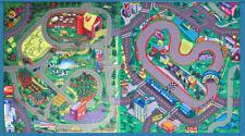 2 Themed Mats Race Track and Farm Countryside Felt Floor Play Mats Kids Game