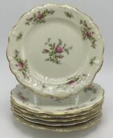 Rosenthal Antoinette (Pompadour Shape) Moss Roses 6 Bread & Butter Plates
