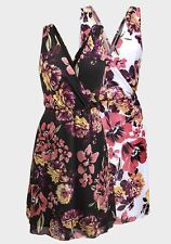 *New* C&A Yessica Floral Summer Sun Dress ~ Size (Black) ~ Size 8