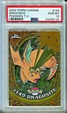 PSA 10 GEM MINT Pokemon Dragonite 2000 Topps Chrome Series 2 #149