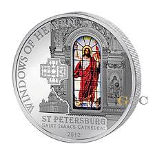 Cook Island 2012 10$ Sankt Petersburg Windows of Heaven Silbermünze