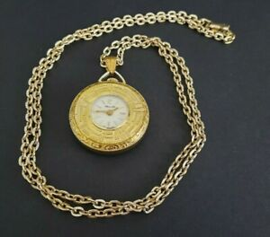 Vintage Chancellor Swiss Made Ladies Pendant Watch on 24 inch Chain - Working