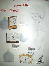 PUBLICITE DE PRESSE JAZ HORLOGERIE PENDULETTES RAVIC DARLIC QUINZIC AD 1965