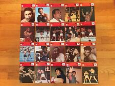 1977-1978 SPORTSCASTER Boxing Card Lot of 20: ALI, MARCIANO, LOUIS, FRAZIER