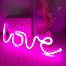 Pink Love Night Lights Led Neon Signs Usb/Battery Wall for Home Decor Bedroom