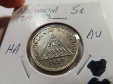 O154 Nicaragua 1919 5 Centavos AU