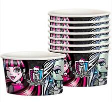 Monster High Snack Ice Cream Treat Cups 8 Per Package Birthday Party Supplies