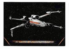 2017 Topps Star Wars Galactic Files Reborn Purple Vehicles V-18 X-Wing  #64/99