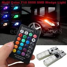 1 Paire T10 5050 SMD 6 LED RVB Voiture Wedge Lampe Ampoule et Télécommande