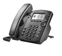 Polycom VVX300 2200-46135-025 6-line Desktop Business Media PoE Phone NEW