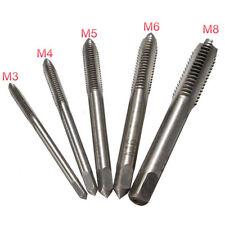 5pc M3 M4 M5 M6 M8 HSS Machine Hand Screw Thread Tapper Metric Plug Tap Standard