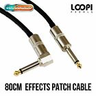"80cm 1/4"" Right Angle to Straight Guitar Effect Patch Van Damme Cable"