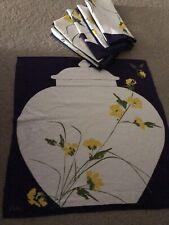 New ListingVintage Vera Linen Luncheon Napkins (8) Ginger Jar & Flowers