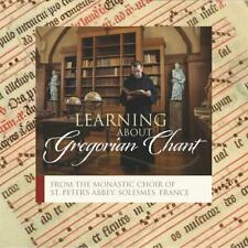 CD Learning About Gregorian Chant by the Monks of Solesmes St Peter Abbey