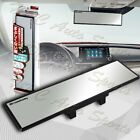 Broadway 300mm Wide Flat Interior Clip On Rear View Clear Mirror Universal