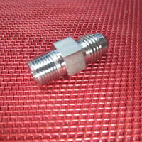 """Parker® 04AN(1/4"""") Flare x 1/8"""" NPTF Male Straight Connector 316 Stainless Steel"""