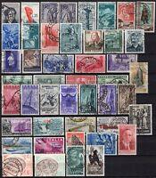 #790 - Repubblica - Lotto di 46 francobolli, 1946/55 - Usati